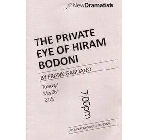The Private Eye of Hiram Bodoni