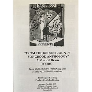 From the Bodoni County Songbook Anthology